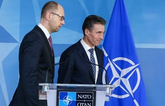 Arseniy Yatsenyuk and Anders Fogh Rasmussen