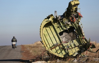 The wreckage of the Malaysia Airlines Flight MH17