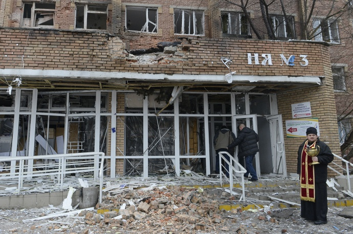 One of shells fired by Ukrainian forces hit a hospital in Donetsk. A doctor was wounded