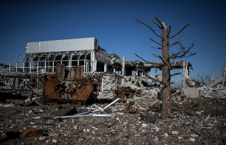 Destroyed Luhansk airport