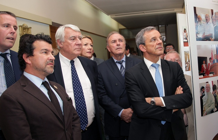 Group of French members of parliament in Crimean Simferopol